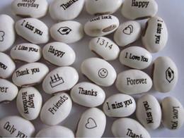 semi di semina liberi Sconti Spedizione gratuita (2500pcs / lot) semi di fagiolo magico regalo pianta crescente parola messaggio, verde decorazione domestica