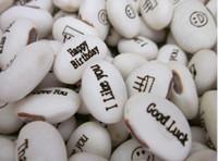 ingrosso semi di trasporto libero-Spedizione gratuita (500 pz / lotto) semi di fagioli magici regalo pianta crescente parola messaggio, verde decorazione domestica