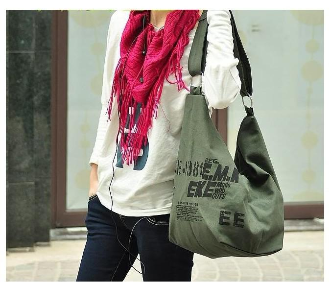 Fashion Trendy Cheap Woman Lady Leisure Canvas Shoulder Bags ...