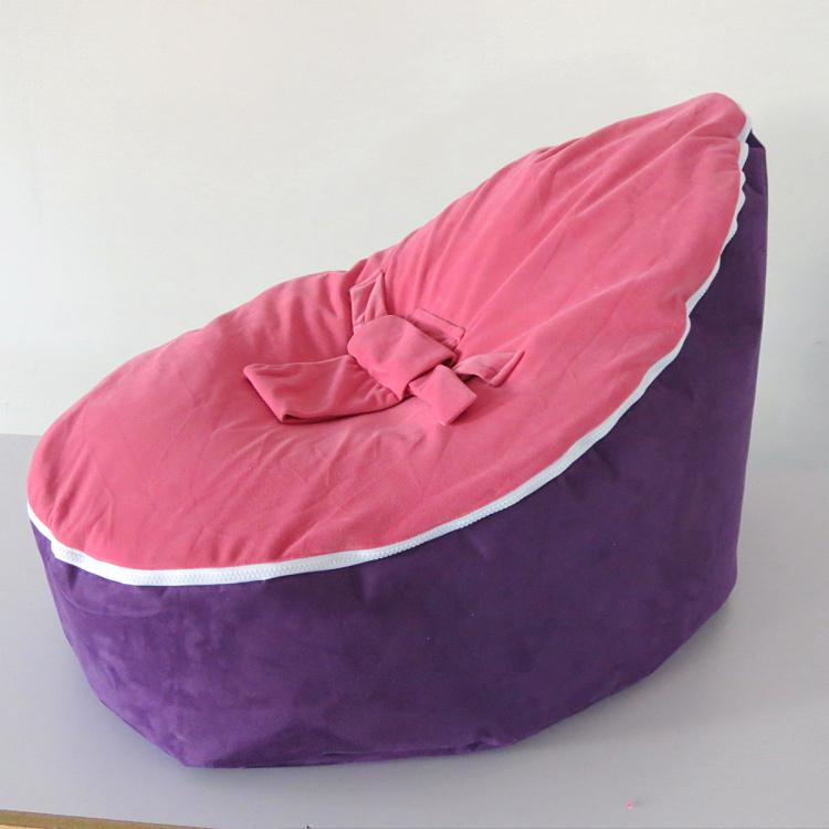 Purple Pink Doomoo Bean Bag Chair Baby Sofa Seat 2