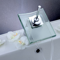 square glass vessel sink - Classic Design Faucet Waterfall Square Glass Kitchen Bathroom Vanity Vessel Sink