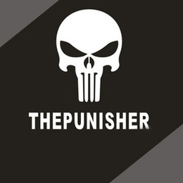 Wholesale Fuel Oil Cooler - Cheap Cool Car Decals THE PUNISHER Bumper stickers fuel tank sticker custom stickers