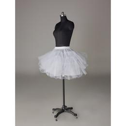Wholesale Mini Layers Dress - High quality no hoop bone three layer Mini Skirt Dress Short Prom Skirt Short Dress Slip Short Dress Petticoat