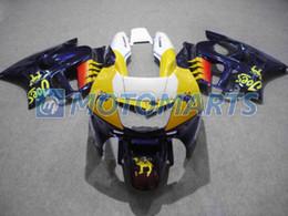 2019 honda cbr yellow Подгоняйте желтый голубой набор зализа на CBR600F3 95-96 CBR600 F3 1995 1996 CBR 600 F3 95 96 наборов зализа bodywork