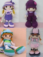 Wholesale Girl Kids Clothes Shops - Kids Stuffed Doll clothes shop decoration toys Four Design Good Workmanship Vivid Dolls Kids Friends Outer Fabric Inside Stuffed PP