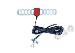 Wholesale Tv Antenna Connectors - ISDB-T Digital TV Active Antenna Mobile Car Digital DVB-T TV Aerial for Car DVD GPS with a Amplifier Booster, SMA connector