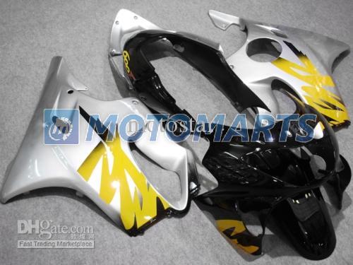 Silber ABS Spritzguss für CBR 600 CBR600 F4 CBR600F4 99 00 1999 Verkleidungspaket 2000