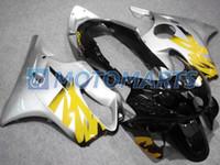 Wholesale 99 honda cbr f4 fairings resale online - Silver ABS Injection molded for CBR CBR600 F4 CBR600F4 fairing kit