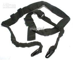 Wholesale Elastic Gun Belt - New Sling CQB Elastic Bungee Snap Tactical belt bungee hook Black for Rifle Gun free shipping
