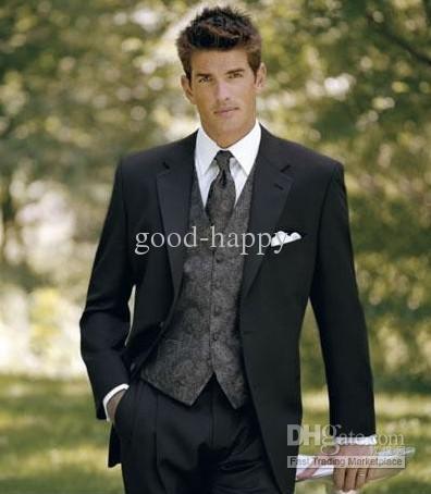 Hot Recommend Blazer trajes de los hombres vestido de novia Prom ropa novio esmoquin por encargo ropa + pantalones + corbata + chaleco NO: 191