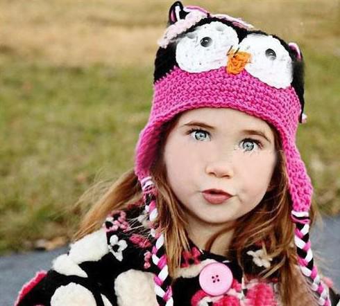 Mischfarben Kleinkind Eule EarFlap Häkeln Hut Baby Handmade häkeln OWL Beanie Strickmütze