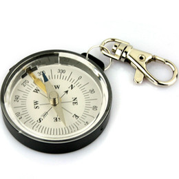 Wholesale Mini Compass Keychain - Mini Portable Outdoor Camping Keychain Survival Compass New