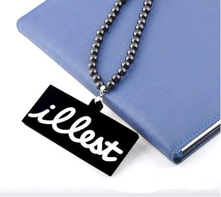 Nieuwe stijl hip-hop mode goede kwaliteit no-wood heren sieraden acryl kralen ketting gratis verzending