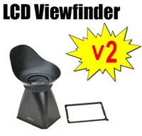 Wholesale Dslr Viewfinders - Extender w  Hood Magnifying 2.8x 3:2 LCD Viewfinder V2 for Canon DSLR 550D Nikon D90