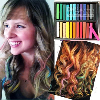 2012 Hot Temporary Hair Color Dye Pastel Chalk Bug Rub, Ems Hair ...