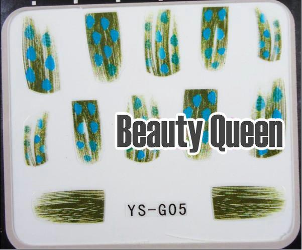 24 Style Feather Nail Decal Sticker 3D Nail Art Wrap Tip Tips Acrylic Gel Polish Decoration DIY NEW FASHION DESIGN HOT SALE *