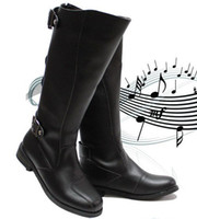 Wholesale Cheap Buckled Boots - Cheap Fashion Shoes,Men's Shoes Knee-High Boots,Punk Back Zipper Leather Casual Boots,Outdoor Leather Boots,EU Size 39-44