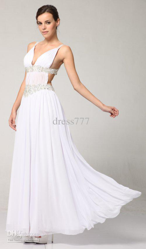 Greek style prom dress