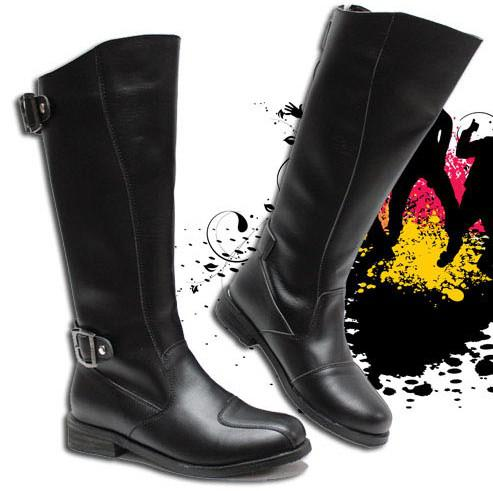 Cheap Men'S Boots,Men'S Leather Shoes Knee High Boots,Cool Buckles ...