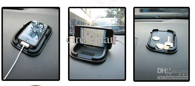 Gratis verzending 5 stks / partij Antislip pad voor iPhone 4 mobiele telefoon frame multifunctionele opbergdoos