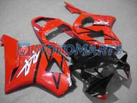 honda cbr yarış fairing toptan satış-HONDA CBR900 929RR CBR900RR 00 01 CBR 900RR CBR929 RR 2000 2001 yol yarış kaporta kiti için turuncu siyah gövde kaportalar