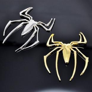 металлический автомобиль наклейки паук персонализированные 3D стерео наклейка автомобиль эмблема значок наклейки наклейки на бампер