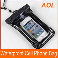 Wholesale Mp4 Leather Case - Waterproof Cell phone Bag Pouch Jacket Leather Case Cover Protective Skin for Cell Phone MP3 MP4