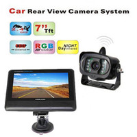 Wholesale Dvr System Lcd Monitor - 7 inch TFT LCD Monitor 2.4GHz Wireless Car Rear View Camera System with Night Vision Weather-proof Car Camera DVR Recorders