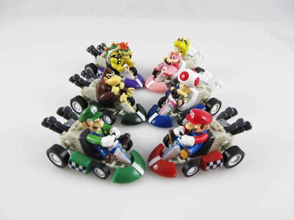 Super Mario Bros. Kart PULL BACK Car Karts Figures Doll Toys