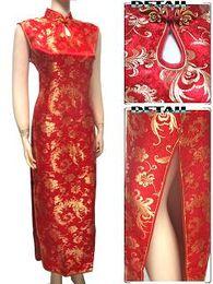 Wholesale High Collar Cheongsam - Sexy Chinese dress Cheongsam peafowl Womens Satin Evening Dress 400529