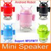 Google Android Robot MP3 Mini Speaker with TF Card Slot & FM Raido For Smart Phone