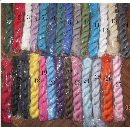 Señoras de algodón de color liso bufanda de cuello de color sólido bufandas ponchos envolver chales bufandas / # 245