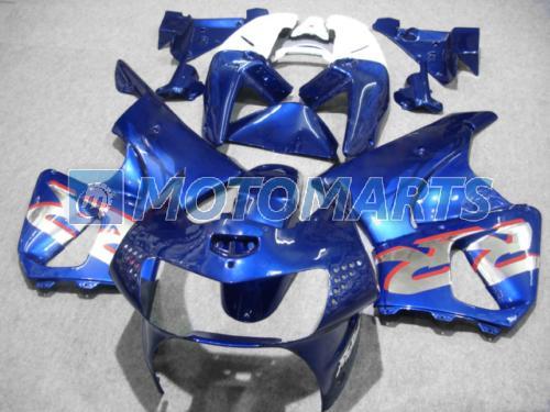 Kit de carénage argent bleu sur mesure pour CBR900RR 98 99 919RR CBR900 RR CBR919 CBR919RR 1998 1999 kit carénage de moto