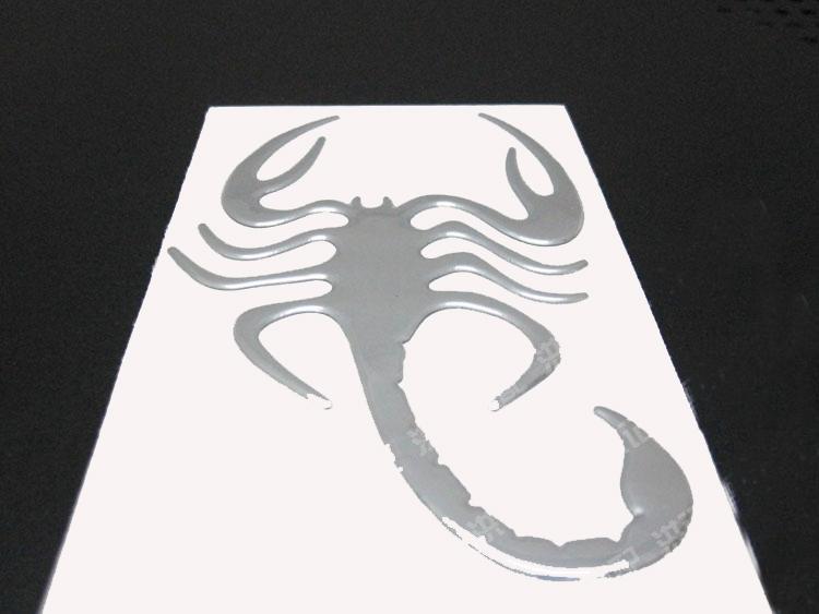 Cheap Wholesale 3d Scorpion Stickers for Car 12*7cm Bumper Sticker funny car decals