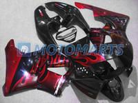 Wholesale Honda Cbr919 Fairing - Red flame fairing for CBR900RR 98 99 919RR CBR900 RR CBR919 CBR919RR 1998 1999 body kit & windscreen