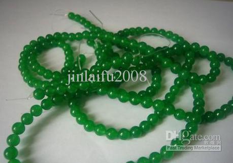 4 millimetri verde giada pietra preziosa rotonda branelli allentati 150inch