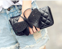 Wholesale Butterfly Clutch Purses - New Women Chain Butterfly Stitch Rhombus Clutch Shoulder Bags Purse wallet lady Evening Party burse