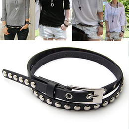 Wholesale Thin White Leather Belt - Beautiful New Fashion Cross Buckle Waistband PU Leather Thin Belt 4colors #6057