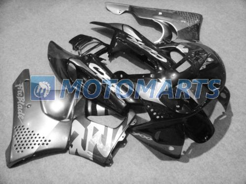 Kostenlose Custom Silver Black Verkleidungen für Honda CBR900RR 1996 1997 893RR CBR900 RR CBR893 CBR893RR 96 97 Verkleidungssatz