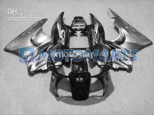 Carénages noirs sur mesure gratuits pour Honda CBR900RR 1996 1997 Kit de carénage 893RR CBR900 RR CBR893 CBR893RR 96 97