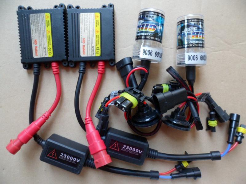 Automobil Xenon HID CONVERSION Kit 12V 35W 9006 HB4 6000K Hid Blub Lamp Slim Ballast ACEA Bi Kits From Feng668