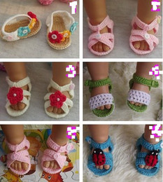$enCountryForm.capitalKeyWord NZ - Summer kids sandals shoes Cotton yarn Toddler walk Newborn Baby Crochet handmade Knitting Booties