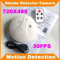 Wholesale Surveillance Cameras Smoke Detectors - SPY Dvr SMOKE DETECTOR 4GB TF CARD Surveillance hidden camera NANNY CAM security