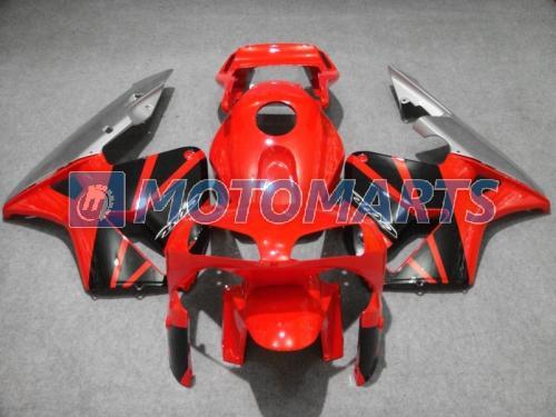 Kırmızı siyah silve Enjeksiyon CBR600RR 2003 2004 için kaporta kaporta CBR 600 RR 03 04 CBR600 kaporta kiti