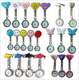 clip de relógio de enfermeira de bolso Desconto Relógio de metal silicone enfermeira Nurse Medical Brooch Clip Relógios de bolso para modelos enfermeira Doctor Mix