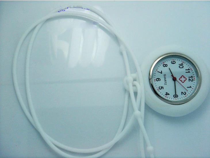 Orologio in metallo siliconico Orologio infermiera in silicone con clip medica orologi da infermiera