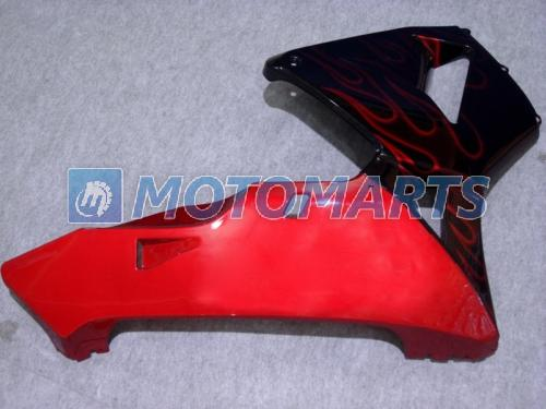 적색 불꽃 사출 성형 바디 페어링 키트 FOR CBR600RR F5 2003 2004 CBR 600 RR 03 04 CBR600 600RR 페어링 세트
