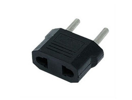 .Wholesale - US AU to EU AC Power Plug Adapter Travel Converter Max 2200W Two Pins Black