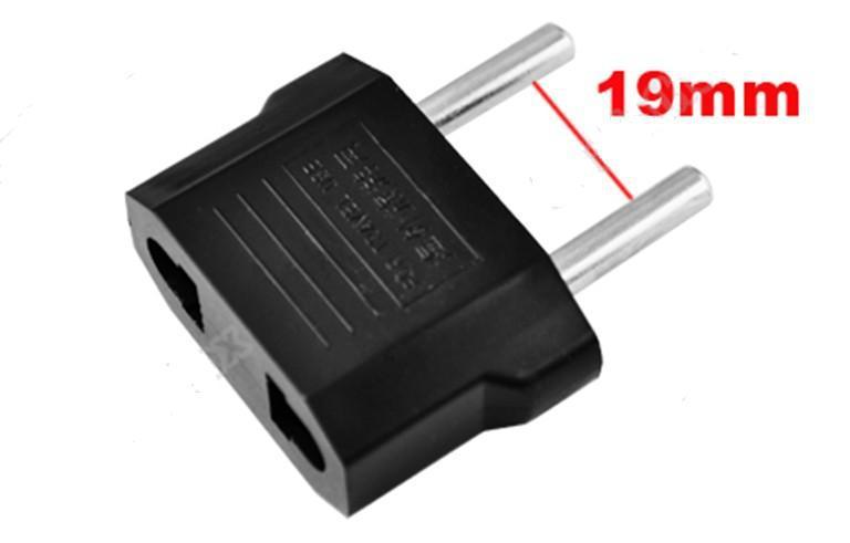 .Wholesale - EUA / AU a UE AC Plug Power Adapter Conversor de Viagem Max 2200W Dois Pinos Preto