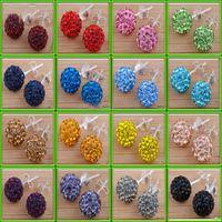 bolas de diamantes de imitación de 12 mm al por mayor-60 par = 120 unids 6 mm / 8 mm / 10 mm / 12 mm Crystal Rhinestone Disco Pave Ball Beads Pendiente Studs Señoras de la manera Pendiente